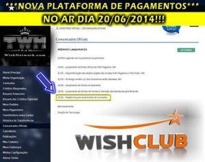 plataforma pagamento wishclub
